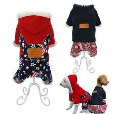 Dog Jumpsuit Winter Warm Lined Small Dog Clothes Pet Puppy Coats Jacket Apparel