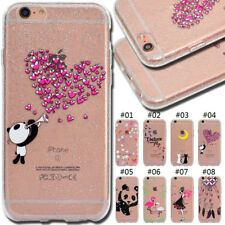 For Apple iPhone 6S Rubber Silicone TPU Glitter Shine Soft Cover Skin Back  Case