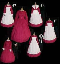 12 pc. =5+ COSTUMES   WOMEN SM-XLG ONE DRESS  VICTORIAN, CIVIL WAR / 4 colors