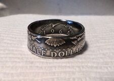 "1964 ""Tails"" Kennedy Half Dollar Silver Two Sided Coin Rings Band Size's: 7 -14"