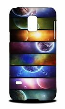RAINBOW SPACE GALAXY PLANETS HARD CASE COVER FOR SAMSUNG GALAXY S5 MINI