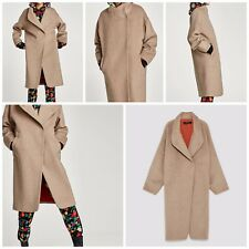 ZARA NEW LONG COAT WITH WRAPAROUND COLLAR 8073/234