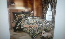 12 PC WOODS BLACK COMFORTER,SHEET AND CURTAIN  SET.   ALL SIZES, 16 COLORS