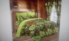 12 PC LIME  WOODS  COMFORTER,SHEET AND CURTAIN  SET.   ALL SIZES, 16 COLORS
