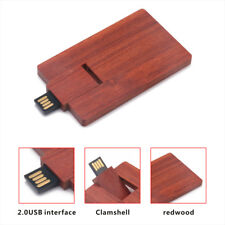 Wooden Card Style USB Flash Pen Slim Drive Pen drive Memory for Computer