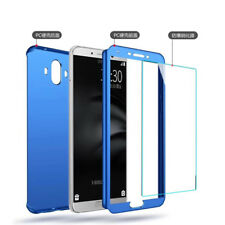 Phone Case For Huawei Mobile 360° Hard Full Cover Ultra Thin + Tempered Glass