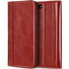 iPhone 8 Case Cover Leather Folio Flip Kickstand Card Slots Magnetic Closure