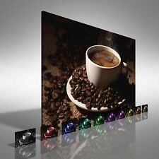 Coffee Cup with Beans Canvas Print Large Picture Wall Print