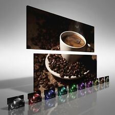 Coffee Cup with Beans Double Canvas Print Large Picture Wall Print