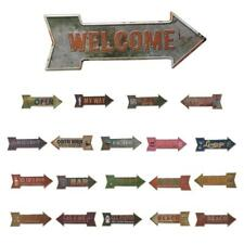 Arrow Shaped Metal Tin Sign Embossed Plaque Plate Pub Bar Art Wall Hanging Decor