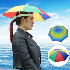 Headwear Rainbow Color Umbrella Hat Cap Beach Sun Rain Fishing Camping Hunting