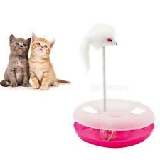 Cat Play Toy Pet Scratching Toy Activity Scratcher Board with Spring Mouse Toy