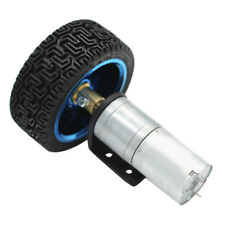 DC 6V Shaft 4mm Cylindrical Speed Reduce Gear Box Motor with Wheel Set