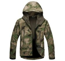 Chic Mens Camo Fleece Jacket Casual Army Jacket Outwear Soft Shell Hooded Coat