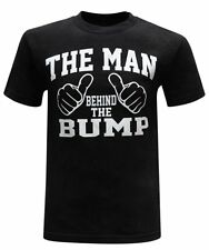 The Man Behind The Bump Men's Funny Novelty Casual T-Shirt 100% Cotton