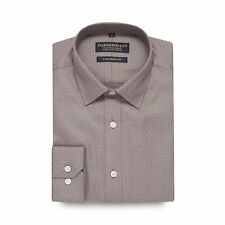Hammond & Co. By Patrick Grant Mens Grey Spotted Tailored Fit Shirt