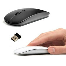 Mini Wireless 3D Slim 2.4GHz Optical Mouse Mice + USB Receiver For Laptop PC Mac