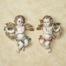 Heavens Garden Cherub Plaque  Set of Two