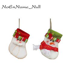 Christmas Tree Santa Decor Bag Claus Sock Candy Holder Stocking Snowman Ornament