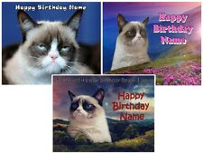 EDIBLE CAKE TOPPER GRUMPY CAT ICING SUGAR IMAGE PHOTO SHEET PARTY DECORATIONS