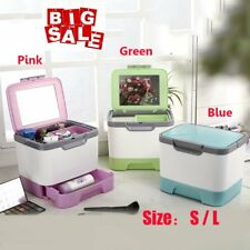Make Up Box Large / Small Space Storage Nail Jewelry Cosmetic Vanity Beauty Case