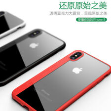 for iPhone X Case Slim Clear Shockproof Hard Bumper Cover for Apple Variety