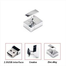 Metal Cufflink USB2.0 Thumb Pen Flash Drive Memory Thumb Stick Storage