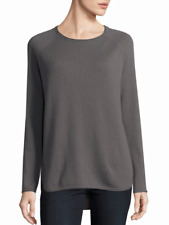 NWT Vince Wool & Cashmere Blend Shirttail Sweater Dove (Grey) Size XS $225