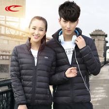 Unisex Padded Coat Winter Jacket Hooded Parka Zip Down Long Cotton Puffer Warm