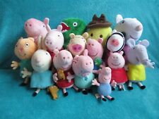 *PICK YOURS* PEPPA PIG SOFT BEANIE BABY TOYS (DADDY MUMMY GEORGE) TY *2 ERRORS*