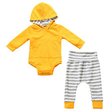 2PCS Toddler Kids Baby Boy Girl Clothes Print Hoodie Coat Tops+Pants Outfits Set