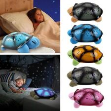 Turtle Night Light Star Sky Projection Lamp Musical LED Baby Kids Sleep Bedroom