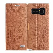Samsung Galaxy Note 8 Wallet Flip Case Cover Crocodile Pattern Premium Leather