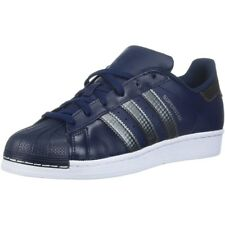adidas Originals Superstar Collegiate Navy Leather Youth Trainers Shoes