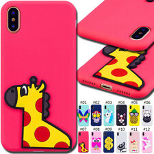 For Huawei Apple iPhone Cover Skin Rubber Soft Silicone TPU Cute 3D Back Cases
