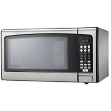 Microwave Oven Countertop Stainless Steel 1.1cu.ft 1000W 10 Power Levels Kitchen