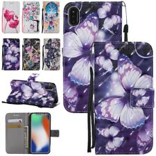 Pattern Flip Cover Leather Stand Wallet Card Case For iPhone X 8 Plus/7 Plus 6 5