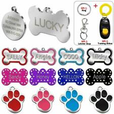 Pet Tags Custom Id Engraved Dog Name Universal Personalized Paw Bone Shape