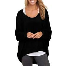 Women's Casual Top Winter Blouse Sweater, Batwing Sleeve, Loose Fit