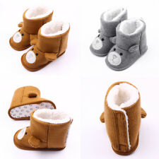 Infant Baby Boy Girl Flower Warm Snow Boots Toddler Kid Soft Shoes Booties 0-18M