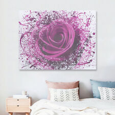 Modern Purple Rose Flower Canvas Print Art Painting Picture Wall Decor Unframed