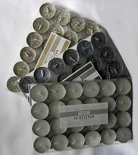 Glitter Candle Tealights (24 Per Pack) Available in Gold Silver White