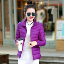 Women Ultralight Down Jacket Collar Coat Long Sleeve Puffer Parka Slim Fashion