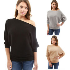 Fashion Women's Long Batwing Sleeve Kintted Tops T-Shirt Casual Loose Blouse
