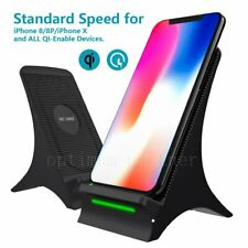 New Qi Wireless Charger Stand Dock Cordless Charging Station For iPhone 8 Plus X