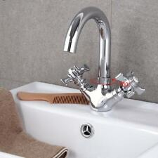 Double Handle Bathroom Faucet Kitchen Sink Cold and Hot Water Mixer Tap