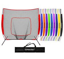 ChampionNet 7x7 Baseball/Softball Training Hitting Net & Frame - Choose Color