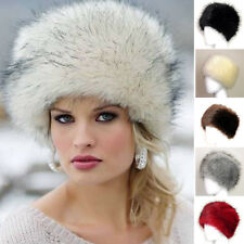 Lady Vintage Artificial Fox Fur Hat Cap Knitted Warm Fashion Ear Cap Winter Hat