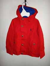 RALPH LAUREN Polo Kids Toddler Boys Girls Red Blue Jacket with Hood ~ 3-3T, 4-4T