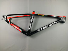 Mountain bike frame 26ER carbon fiber bicycle frame red and black strength